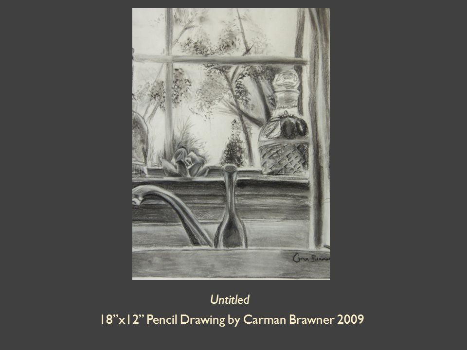 Untitled 18 x12 Pencil Drawing by Carman Brawner 2009