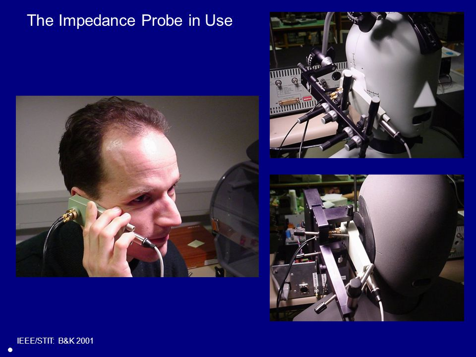 The Impedance Probe in Use IEEE/STIT: B&K 2001