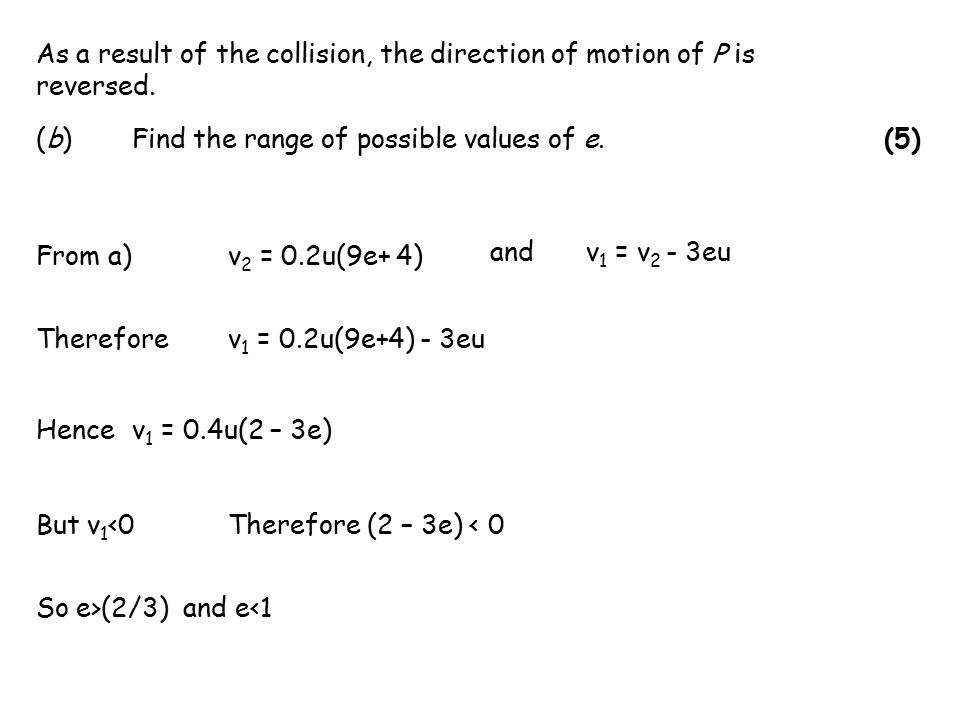 As a result of the collision, the direction of motion of P is reversed.