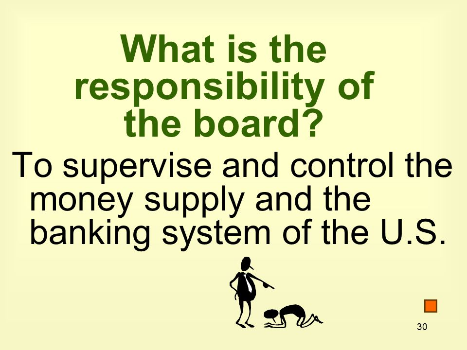 30 What is the responsibility of the board.