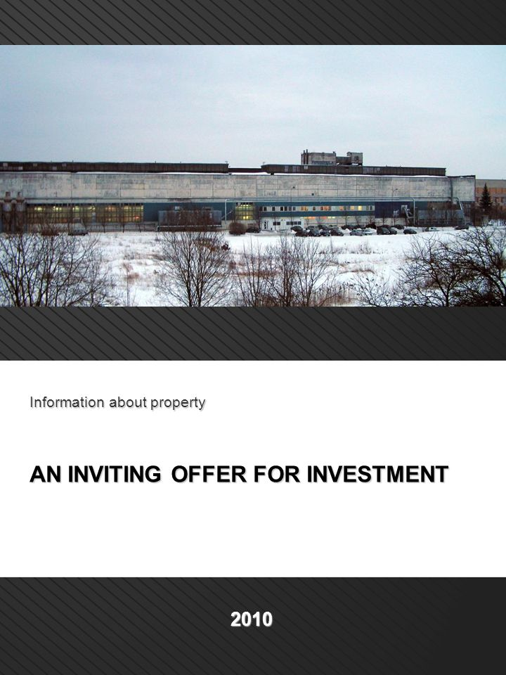 Information about property AN INVITING OFFER FOR INVESTMENT 2010