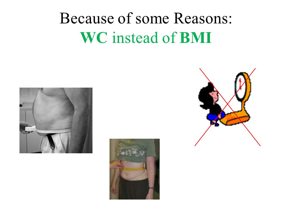 Because of some Reasons: WC instead of BMI