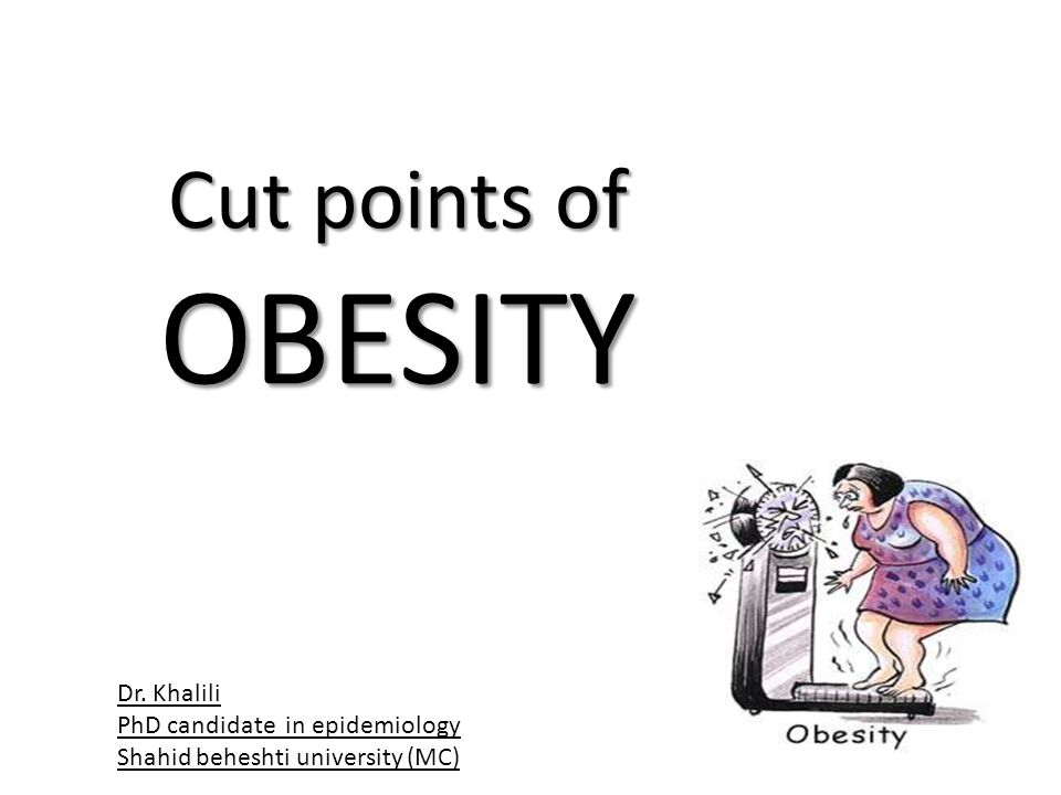 Cut points of OBESITY Dr. Khalili PhD candidate in epidemiology Shahid beheshti university (MC)