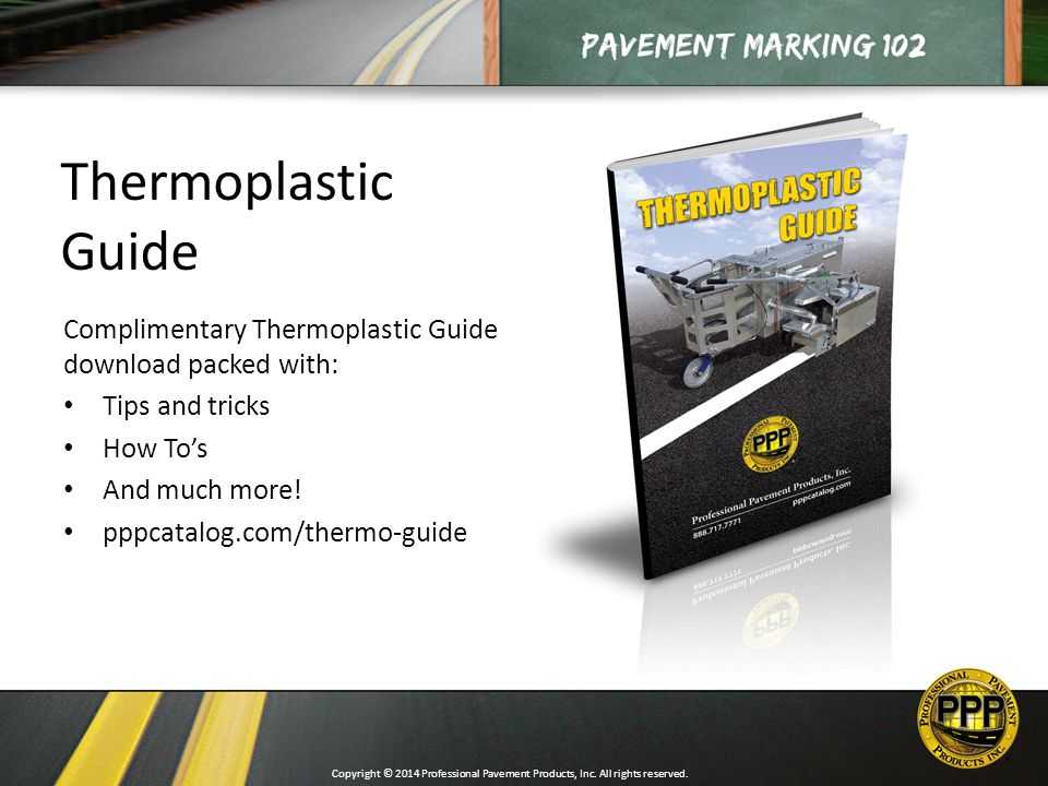 Copyright C 2014 Professional Pavement Products Inc All Rights