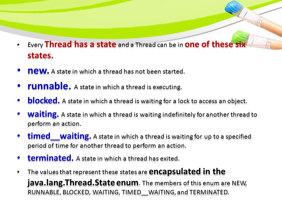 There are two ways to create a thread.