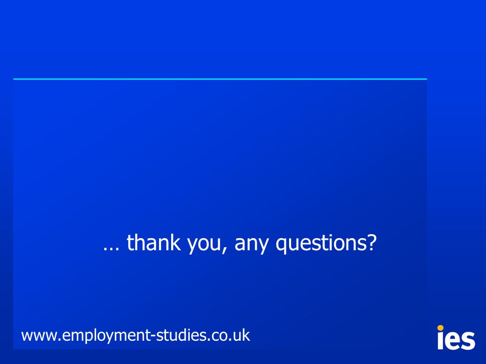 … thank you, any questions www.employment-studies.co.uk