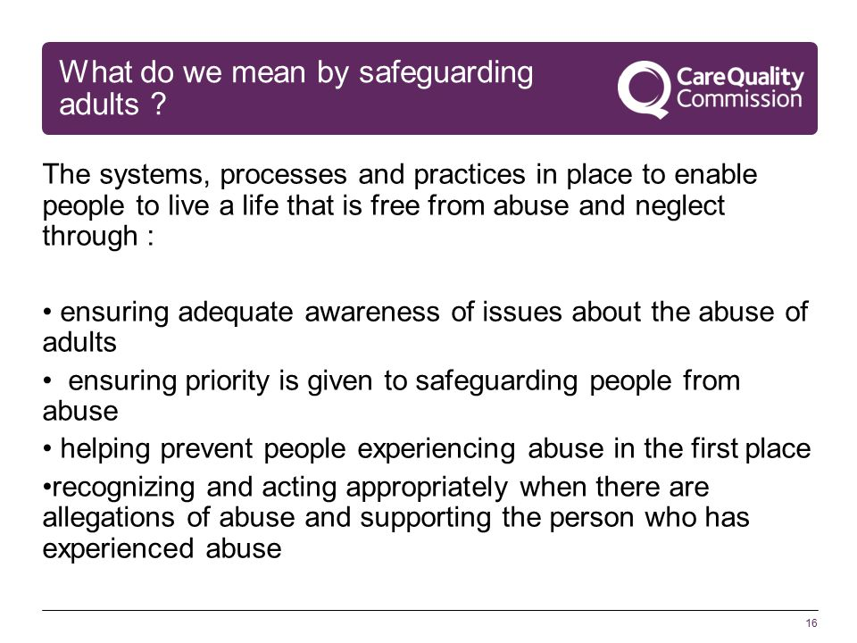 16 What do we mean by safeguarding adults .
