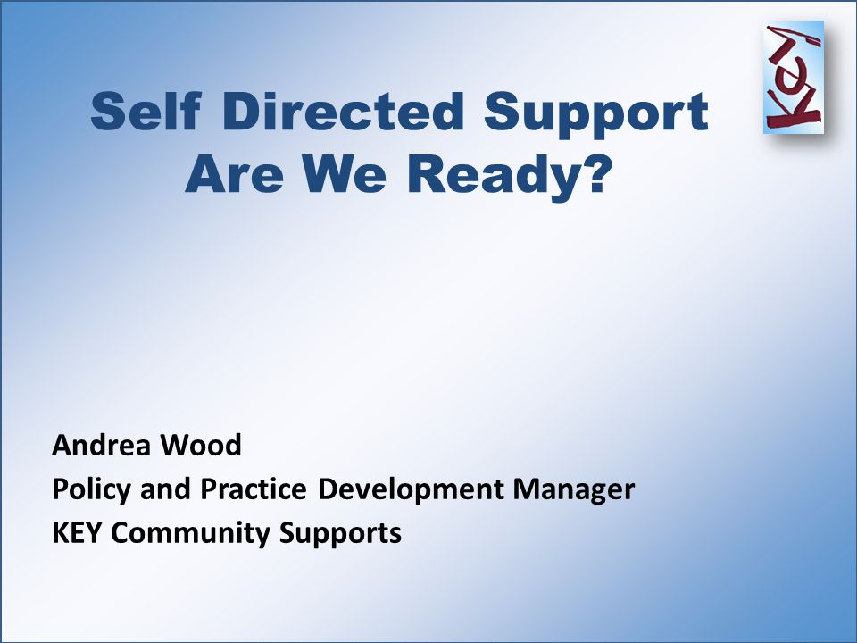 Self Directed Support Are We Ready.