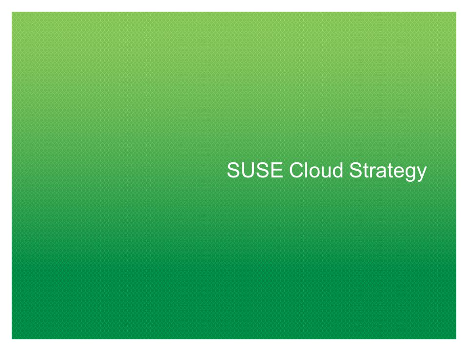 SUSE Cloud Strategy