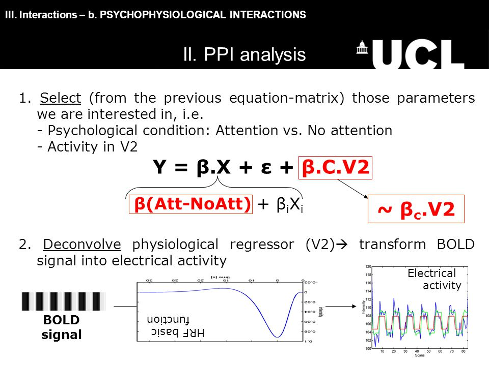 III. Interactions – b. PSYCHOPHYSIOLOGICAL INTERACTIONS 1.