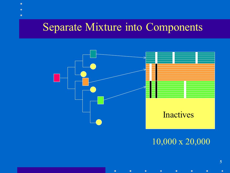 5 Separate Mixture into Components 10,000 x 20,000 Inactives