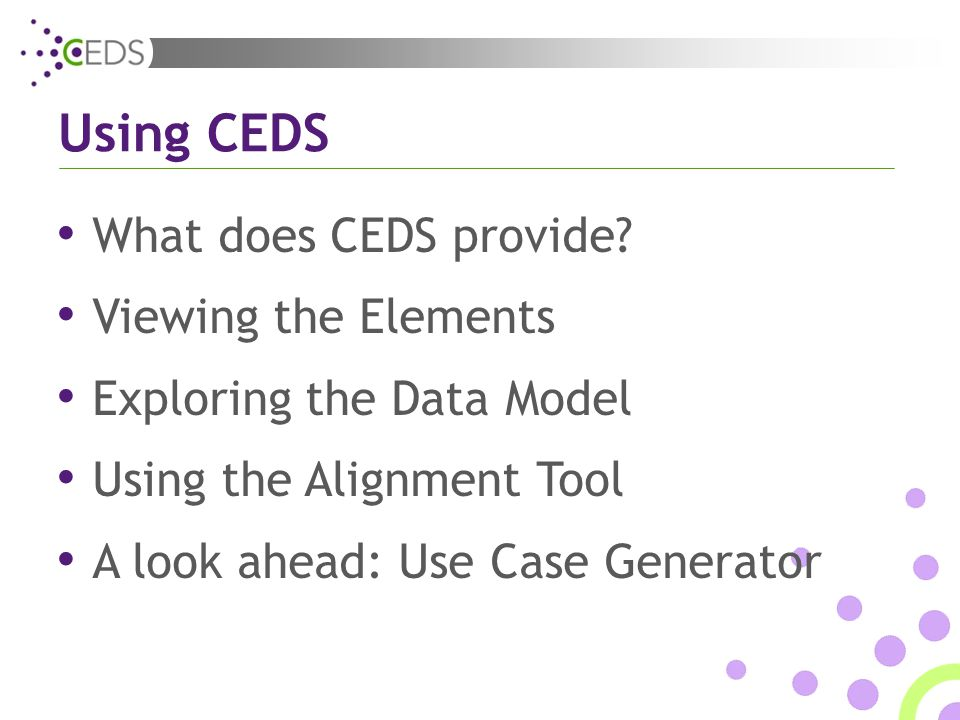 What does CEDS provide.
