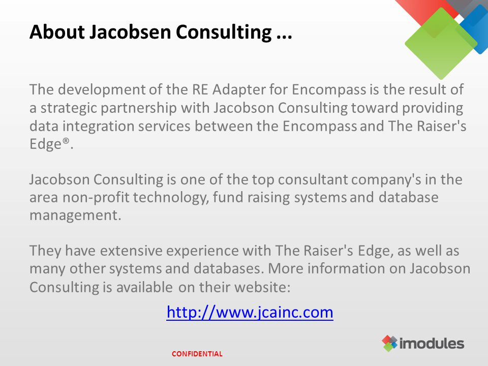 About Jacobsen Consulting...