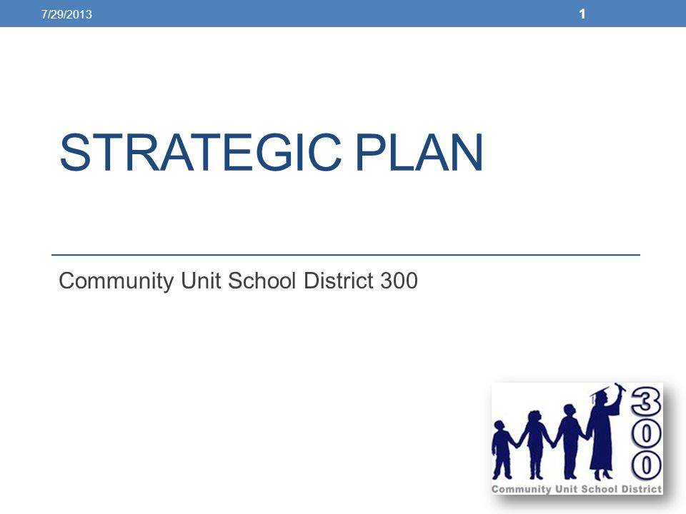 STRATEGIC PLAN Community Unit School District 300 7/29/2013 1