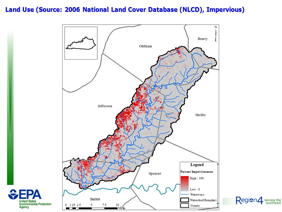 Land Use (Source: 2006 National Land Cover Database (NLCD), Impervious)