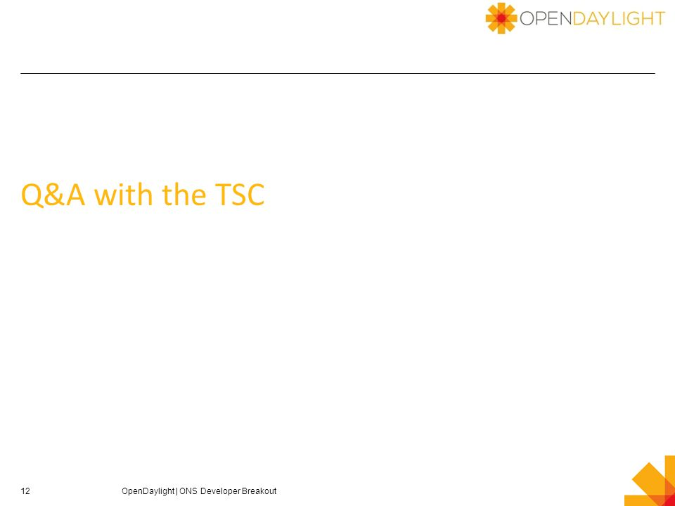 Q&A with the TSC 12OpenDaylight | ONS Developer Breakout