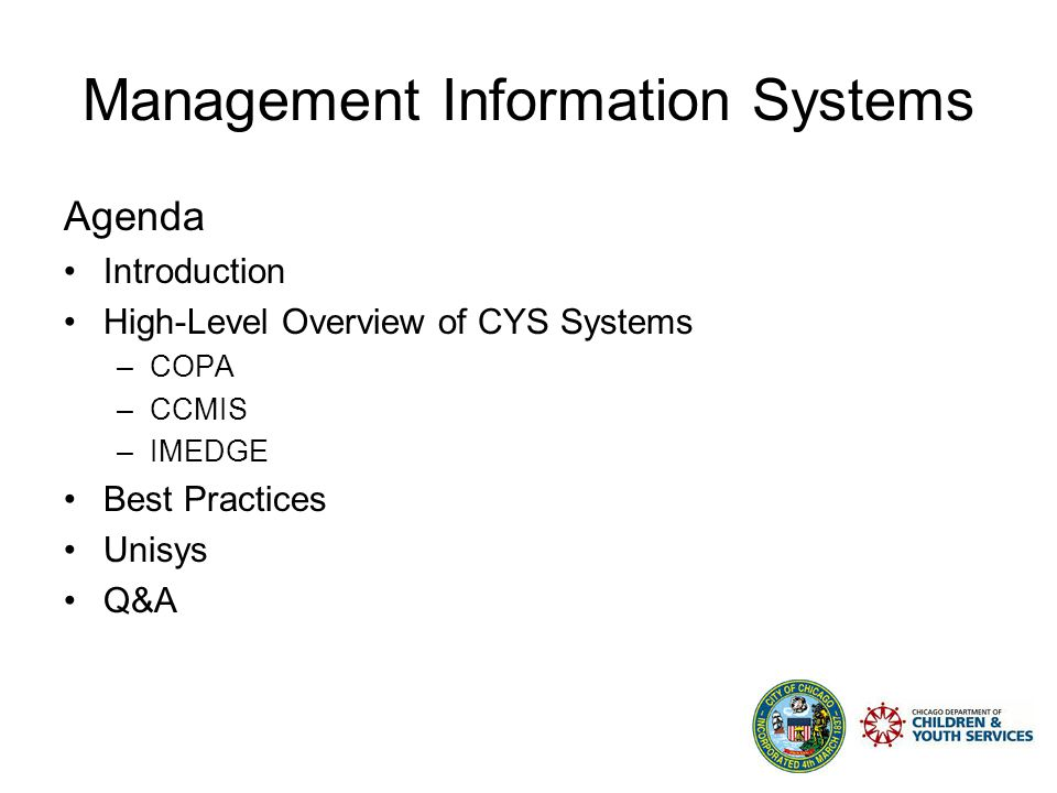 Management Information Systems 2007 Understanding a Systems Approach to Sound Fiscal Management