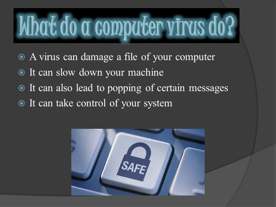 A computer virus is a program or piece of code that is loaded onto your computer without your knowledge and runs against your wishes.