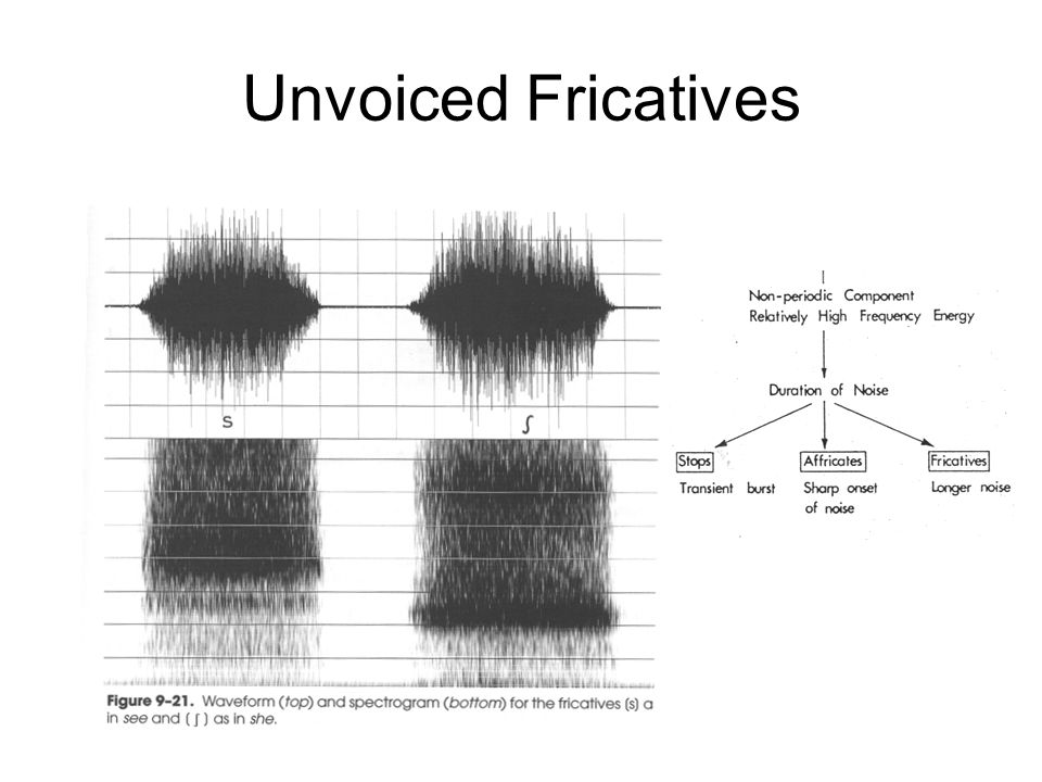 Unvoiced Fricatives