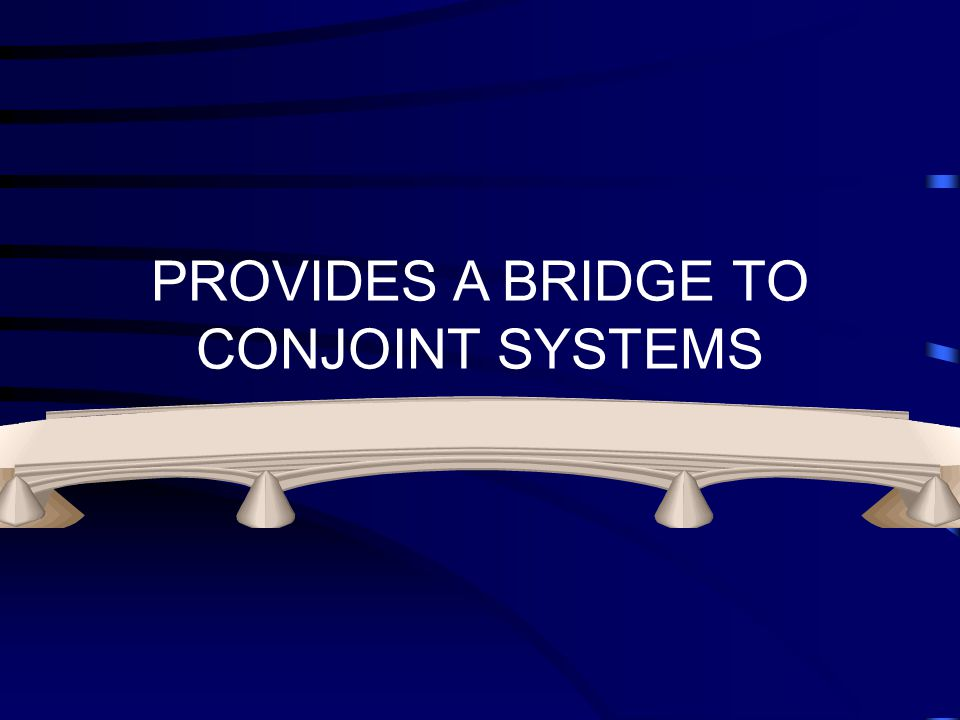 PROVIDES A BRIDGE TO CONJOINT SYSTEMS