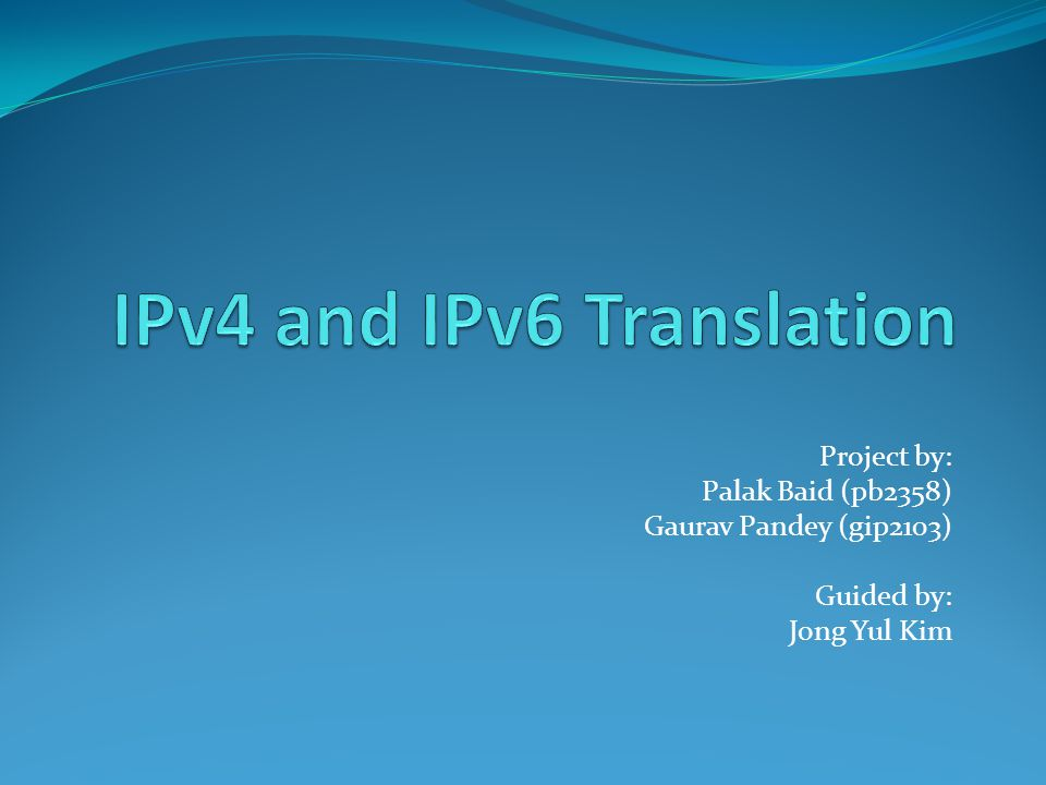 Project by: Palak Baid (pb2358) Gaurav Pandey (gip2103) Guided by: Jong Yul Kim