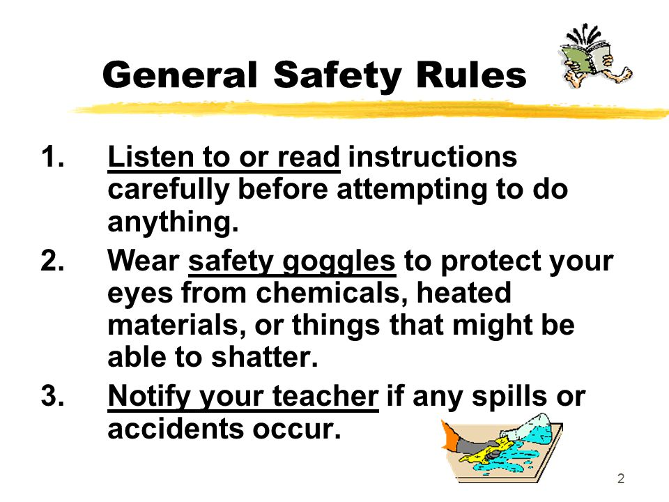 2 General Safety Rules 1.