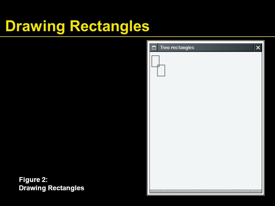 Drawing Rectangles Figure 2: Drawing Rectangles