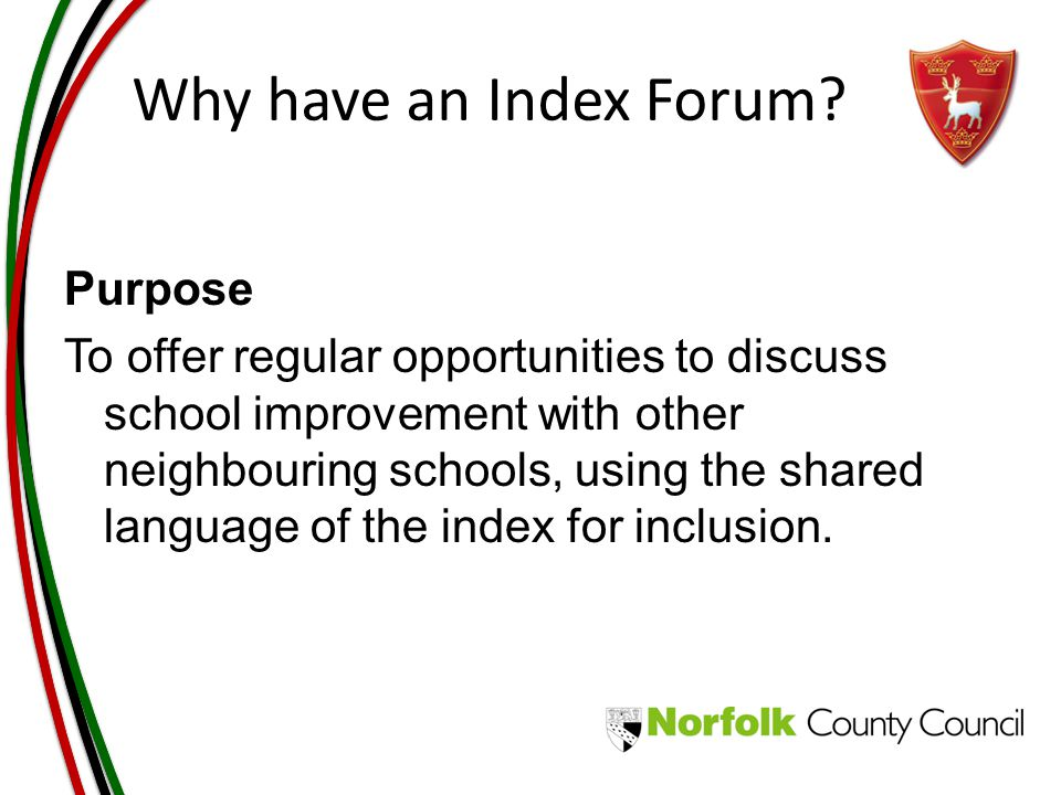Why have an Index Forum.