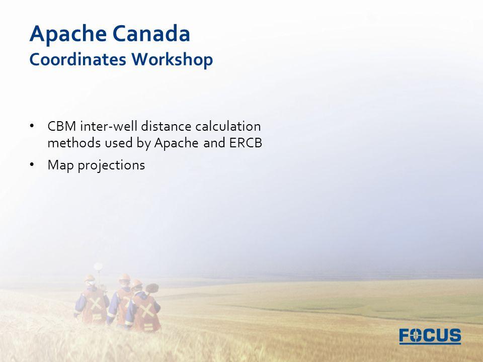 Map Of Canada Distance Calculator.Apache Canada Coordinates Workshop Cbm Inter Well Distance