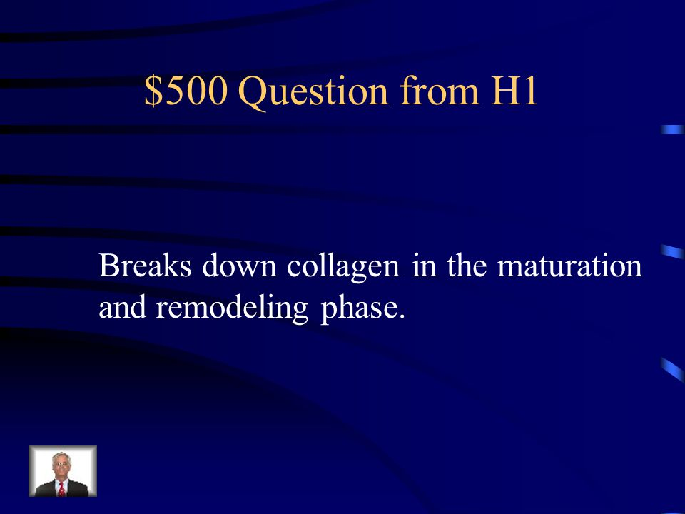 $400 Answer from H1 Glycosaminoglycans
