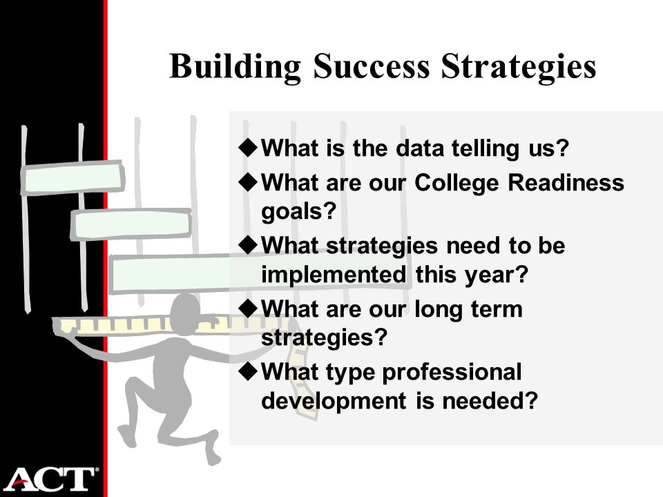 Building Success Strategies uWhat is the data telling us.