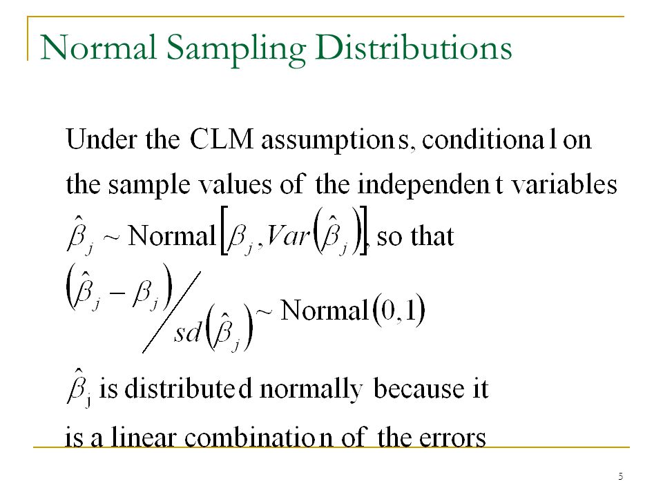 5 Normal Sampling Distributions