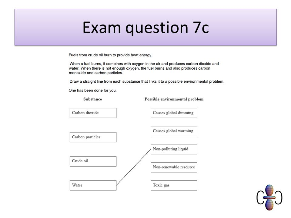 Exam question 7c