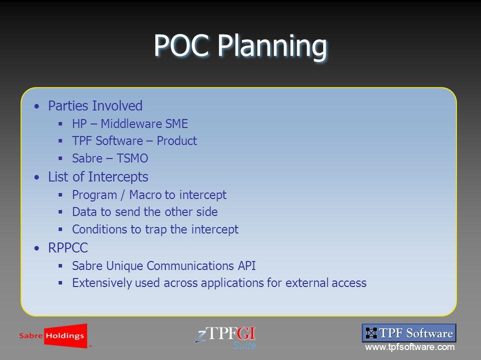 Suite TPF to TPF Function Server (TTFS) SABRE / TPF Software  - ppt