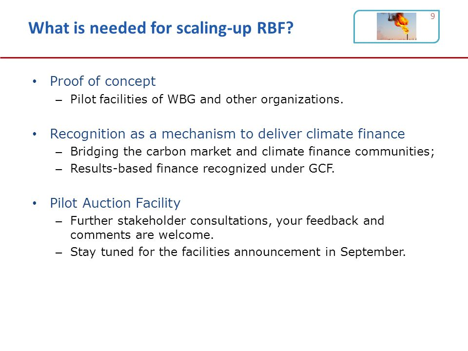 What is needed for scaling-up RBF.