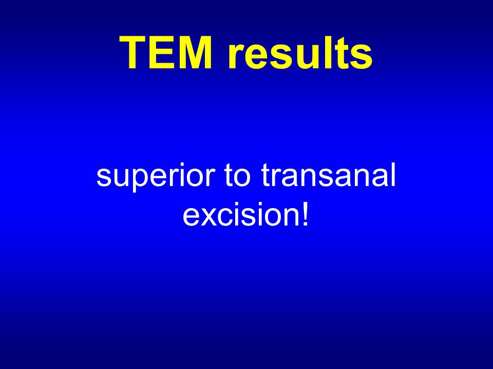 TEM results superior to transanal excision!