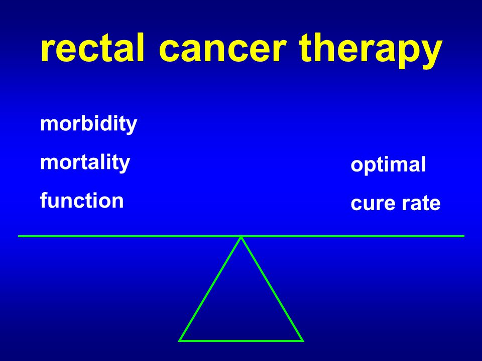 rectal cancer therapy morbidity mortality function optimal cure rate