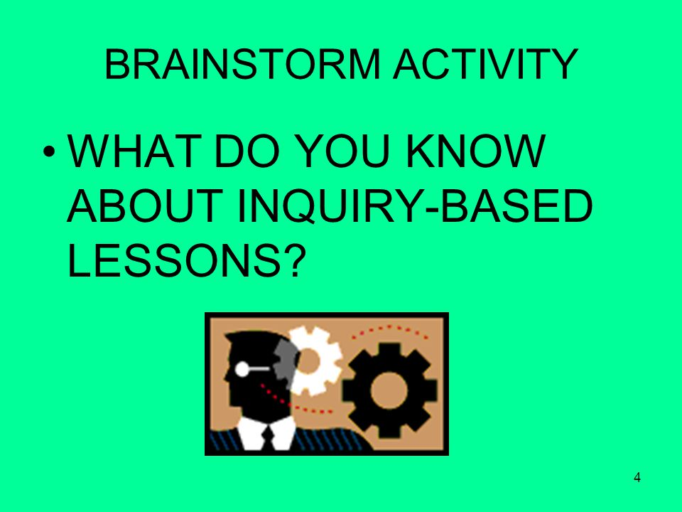 4 BRAINSTORM ACTIVITY WHAT DO YOU KNOW ABOUT INQUIRY-BASED LESSONS