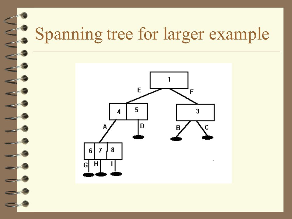 Spanning tree for larger example