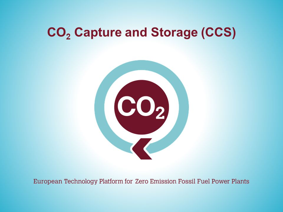 CO 2 Capture and Storage (CCS)