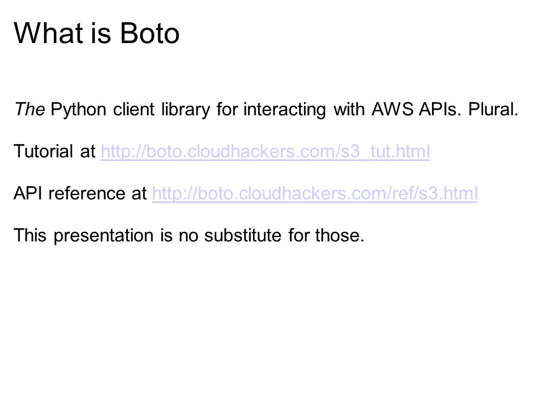 Intro to Boto (and gevent, ) Presented ppt download