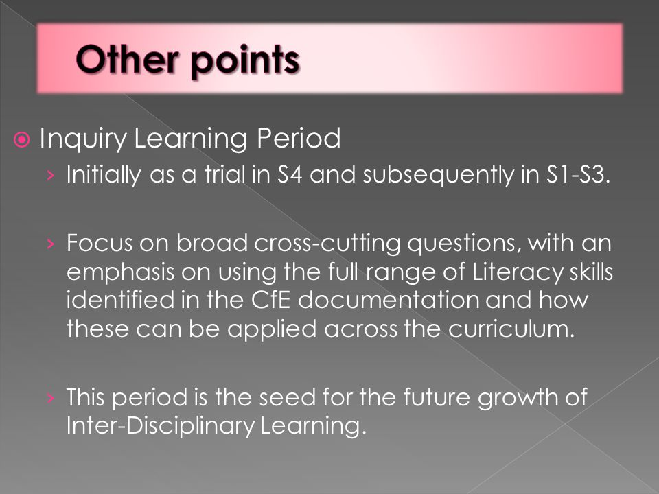  Inquiry Learning Period › Initially as a trial in S4 and subsequently in S1-S3.
