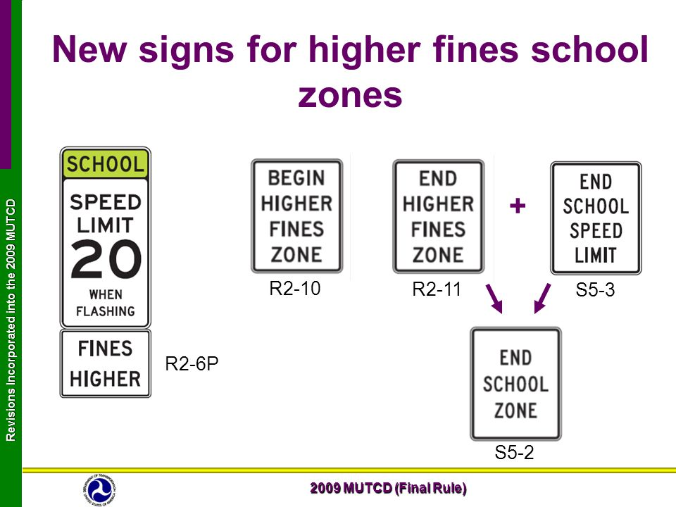 2009 Mutcd Final Rule Revisions Incorporated Into The 2009 Mutcd