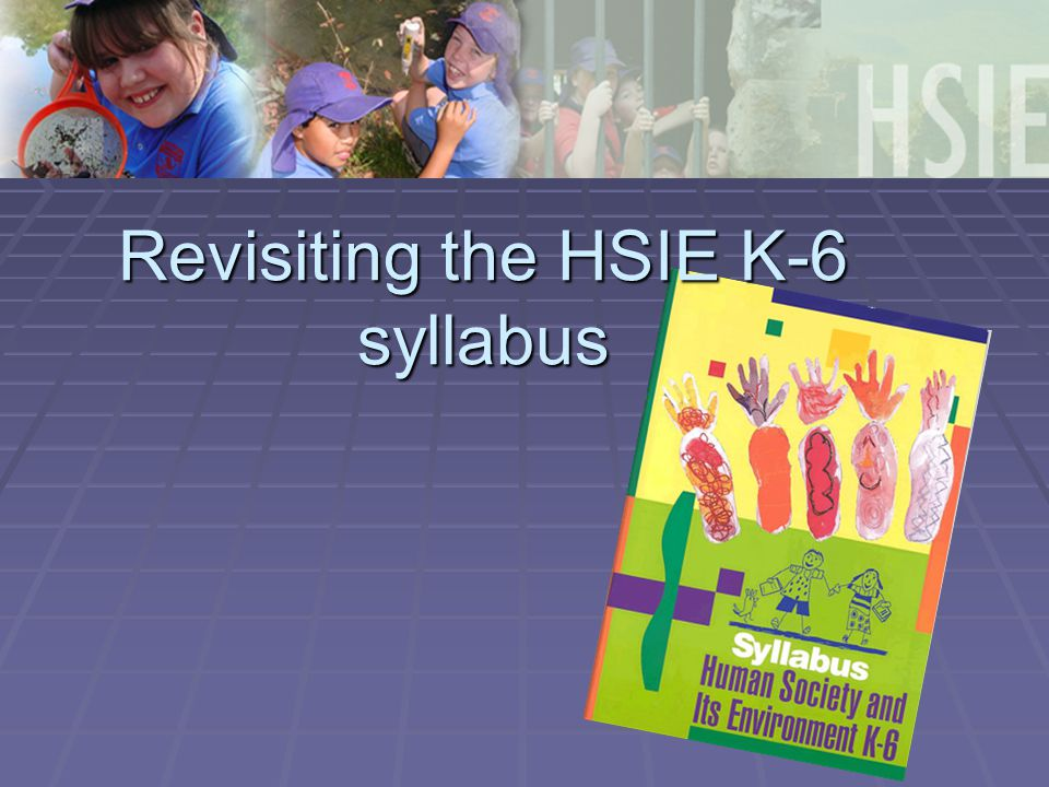 Revisiting the HSIE K-6 syllabus