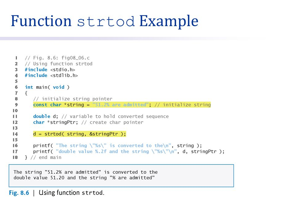 Function strtod Example