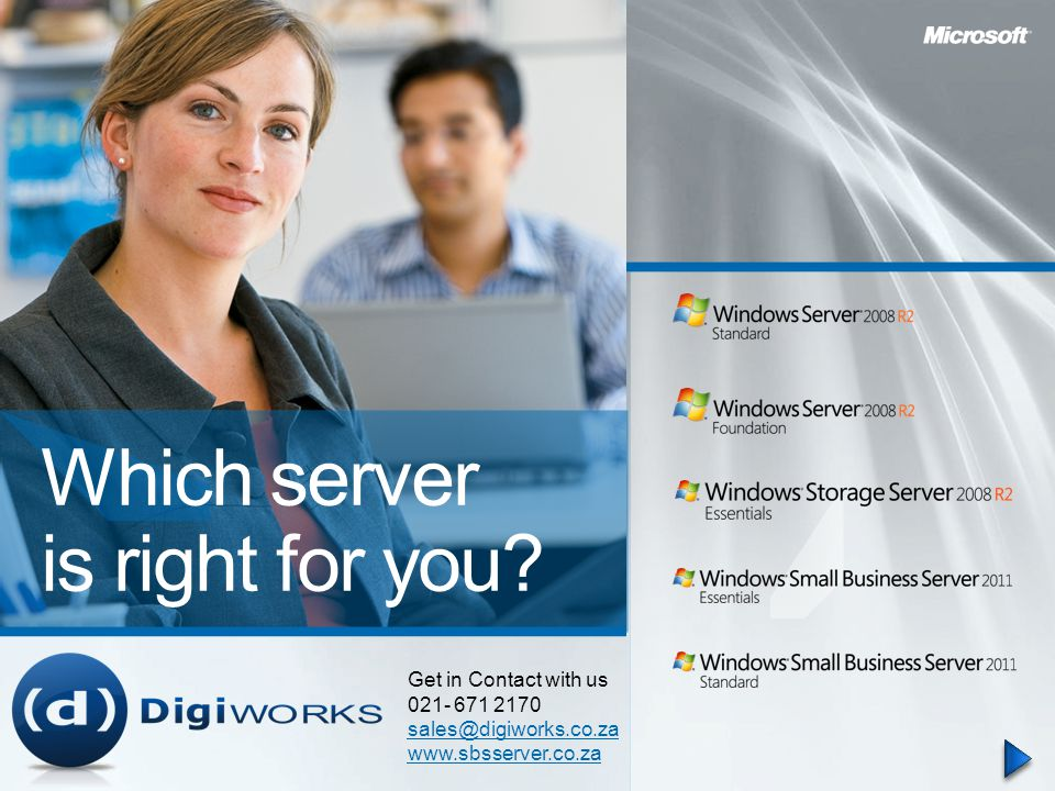 Which server is right for you.