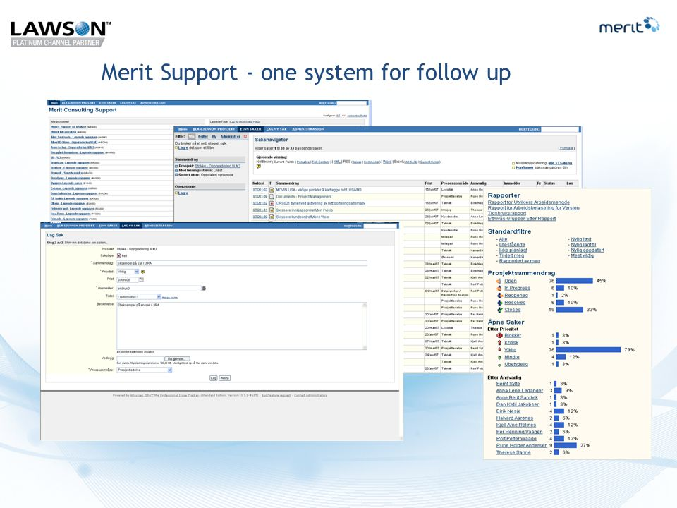 Merit Support - one system for follow up
