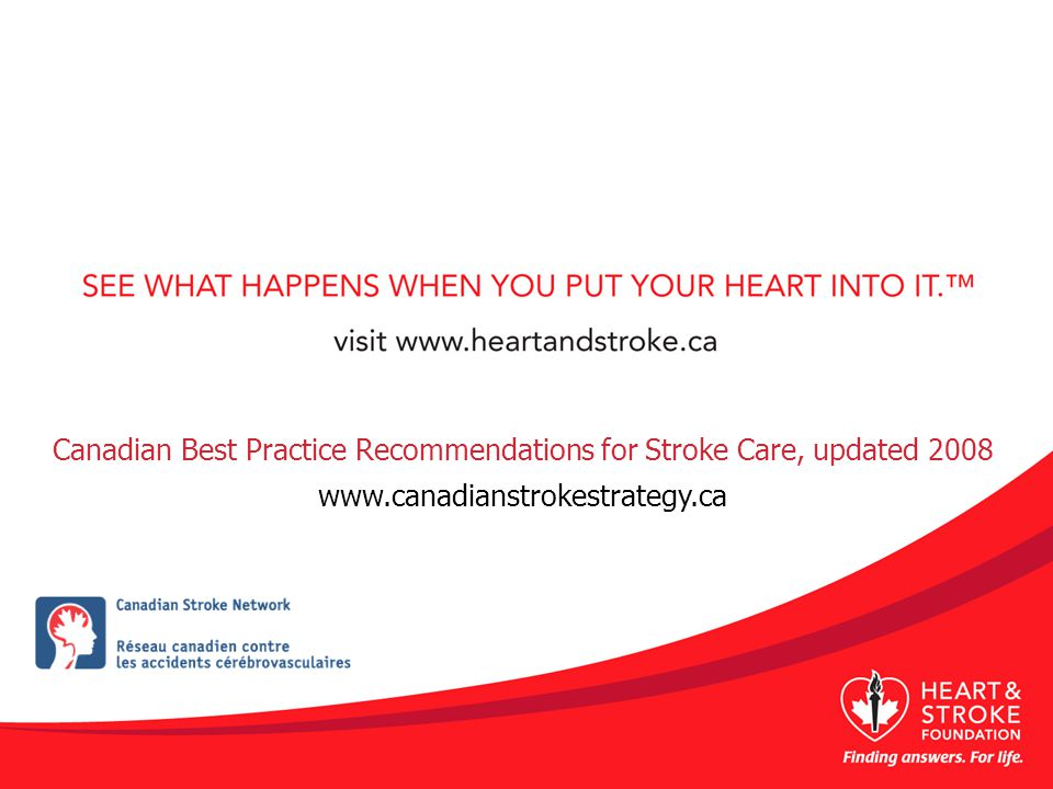 Canadian Best Practice Recommendations for Stroke Care, updated