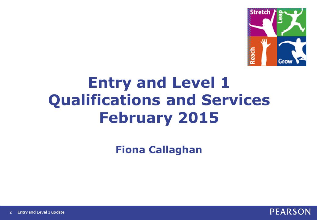 Entry and Level 1 Qualifications and Services February 2015 Fiona Callaghan Entry and Level 1 update2