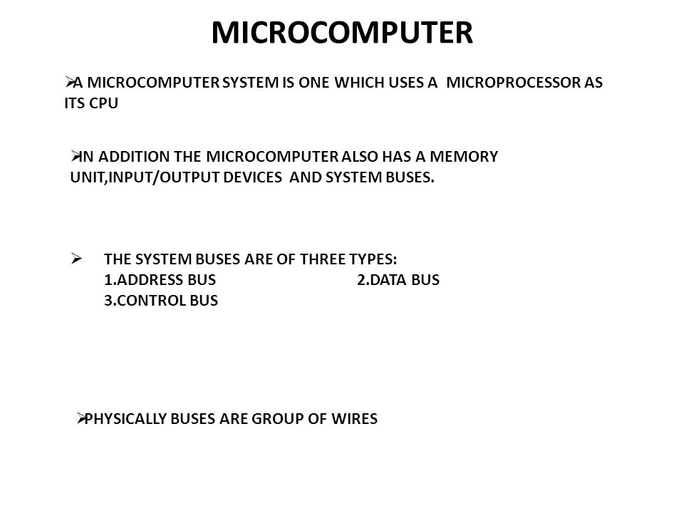 MICROPROCESSORS TWO TYPES OF MODELS ARE USED :  PROGRAMMER'S MODEL :- THIS MODEL SHOWS FEATURES, SUCH AS INTERNAL REGISTERS, ADDRESS,DATA & CONTROL BUSES ; THAT WE NEED TO PROGRAM THE DEVICE.